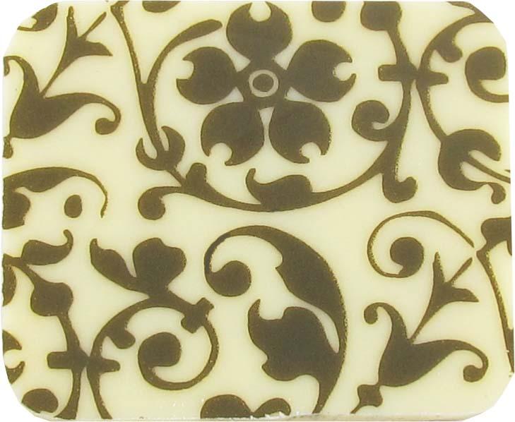 Floral Scroll dk brown 2020