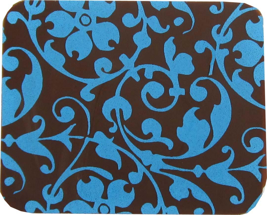 Floral Scroll lt blue 2020