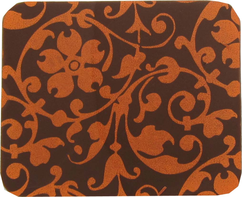 Floral Scroll orange 2020